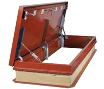 galvanized steel roof hatches for stair access